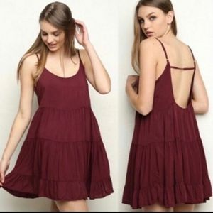 Brandy Melville Baby doll Tiered Dress One Size